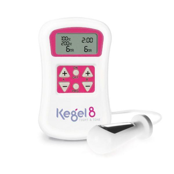 Kegel8 Tight&Tone Előre beállított programok inkontinencia kezelésre , kismedencei erősítésre , afájdalom csillapítására és a szülés utáni regenerálódásra.